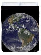 Full Earth Showing North America Duvet Cover by Stocktrek Images