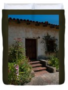 Gardens In Carmel Monastery Duvet Cover