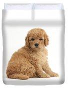 Goldendoodle Puppy Duvet Cover