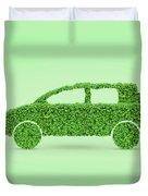 Green Car Duvet Cover