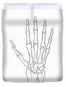 Hand And Wrist Bones Duvet Cover