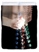 Hand Rolling Dice Duvet Cover