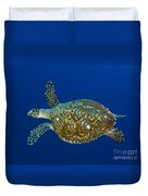 Hawksbill Sea Turtle, Kimbe Bay, Papua Duvet Cover