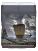High Dynamic Range Image Of A U.s. Air Duvet Cover