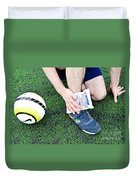 Injured Ankle Duvet Cover by Photo Researchers