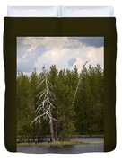 Lake Huosius At Hossa Duvet Cover