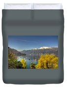Lake With Snow-capped Mountain Duvet Cover