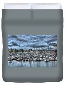 Milford Haven Marina Duvet Cover