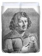 Nicolaus Copernicus, Polish Astronomer Duvet Cover by Omikron