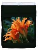Orange Daylily Duvet Cover