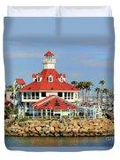 Parker's Lighthouse Restaurant Duvet Cover