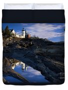 Pemaquid Point Lighthouse Duvet Cover by Brian Jannsen