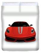 Red Ferrari F430 Scuderia Duvet Cover
