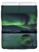 Reflected Aurora Over A Frozen Laksa Duvet Cover
