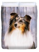 Shetland Sheepdog Portrait Of A Dog Duvet Cover