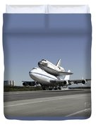 Space Shuttle Endeavour Mounted Duvet Cover