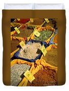 Spices On The Market Duvet Cover by Elena Elisseeva