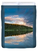 Sunrise Above A Lake On A Wind Still Morning Duvet Cover