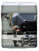 Tank Driver Of A Leopard 1a5 Mbt Duvet Cover
