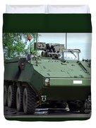 The Piranha IIic Of The Belgian Army Duvet Cover