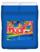 Thermogram Of A House Duvet Cover