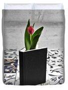 Tulip In A Book Duvet Cover
