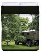 Unimog Truck Of The Belgian Army Duvet Cover