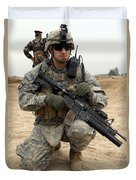 U.s. Army Sergeant Provides Security Duvet Cover