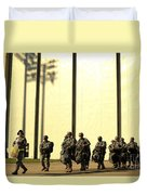 U.s. Army Soldiers Prepare To Board Duvet Cover