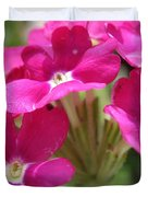 Verbena From The Ideal Florist Mix Duvet Cover