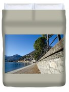 Village On The Lake Front Duvet Cover