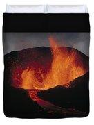 Volcanic Eruption, Spatter Cone Duvet Cover