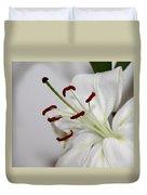 White Lily In Macro Duvet Cover