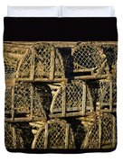 Wooden Lobster Traps Duvet Cover