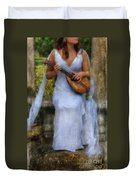 Young Woman As A Classical Woman Of Ancient Egypt Rome Or Greece Duvet Cover