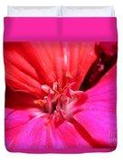 Zonal Geranium Named Tango Neon Purple Duvet Cover