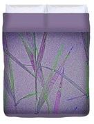 Water Reed Digital Art Duvet Cover