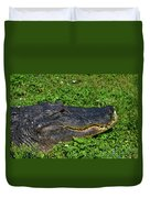 34- Flower Gator Duvet Cover