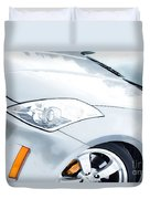 350z Car Front Close-up  Duvet Cover