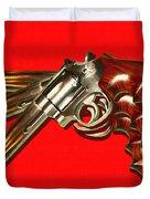 357 Magnum - Painterly - Red Duvet Cover