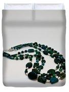 3609 Australian Jasper Triple Strand Necklace Duvet Cover