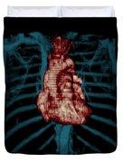 3d Ct Reconstruction Of Heart Duvet Cover