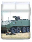 A Belgian Army Piranha IIic With The Fn Duvet Cover