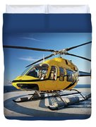 A Bell 407 Utility Helicopter Duvet Cover
