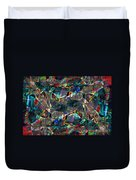 Abstract Composition Duvet Cover by Michal Boubin