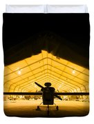 An Rq-5 Hunter Unmanned Aerial Vehicle Duvet Cover