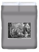 Belshazzars Feast Duvet Cover
