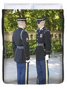 Changing Of Guard At Arlington National Duvet Cover