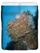 Colourful Reef Scene, Ari And Male Duvet Cover