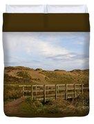 Cornish Seascape Holywell Bay Duvet Cover